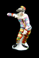 "P004 - MEISSEN FIGURE OF A ""SCOWLING HARLEQUIN"""