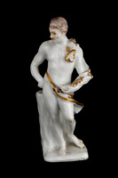 P112 - GERMAN GILT-WHITE FIGURE OF A GOD