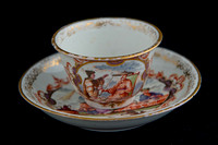 P040 - MEISSEN TEABOWL AND SAUCER