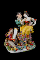 "P005 - MEISSEN GROUP OF ""INDISCREET HARLEQUIN"""
