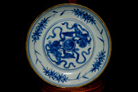 P177 - CHINESE MING BLUE-AND-WHITE SAUCER
