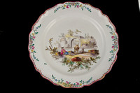 P147 - FRENCH FAIENCE (VEUVE PERIN) PLATE