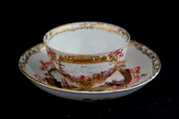 P045C - MEISSEN PART TEA AND COFFEE-SERVICE