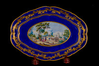 P103 - SEVRES SHAPED-OVAL TRAY (DEJEUNER DU ROI)