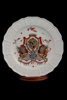 P021 - MEISSEN ARMORIAL PLATE FROM THE SERVICE MADE FOR COUNT BURCHARDT CHRISTOPH VON MÜNNICH