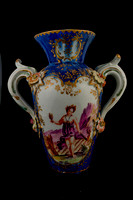 P117 - DERBY BLUE-GROUND VASE