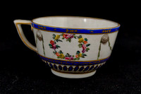 "P135 - DERBY ""SMITH'S BLUE""-GROUND TEACUP"