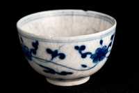 P094 - EARLY MEISSEN BLUE AND WHITE TEA BOWL