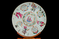 P181 - A CHINESE EXPORT CANTON FAMILLE ROSE SAUCER