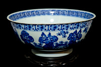 P187 - A CHINESE BLUE AND WHITE BOWL